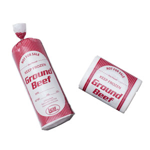 Ground Beef Bags - 2 lb. Ground Beef Bags - 1000 Count