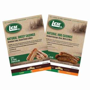 Natural Casings - Natural Hog Casing - 8 oz. Bag (32 - 35mm)