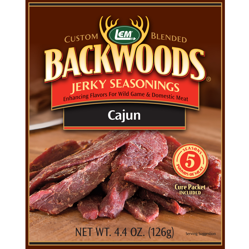 Backwoods Cajun Jerky Seasoning - Backwoods Cajun Makes 5 lbs.