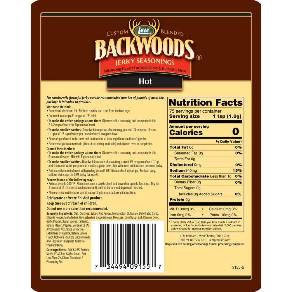 Backwoods Hot Jerky 5lb Back