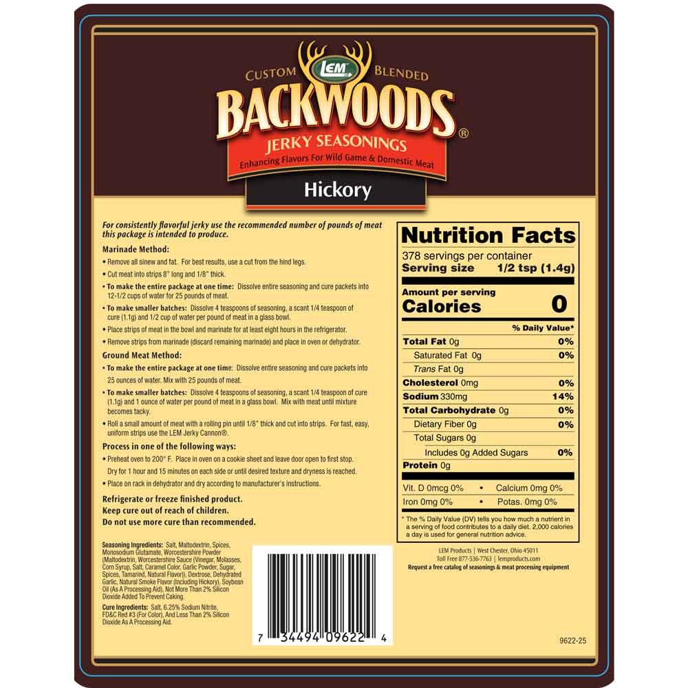 Backwoods Hickory Jerky 25lb Back