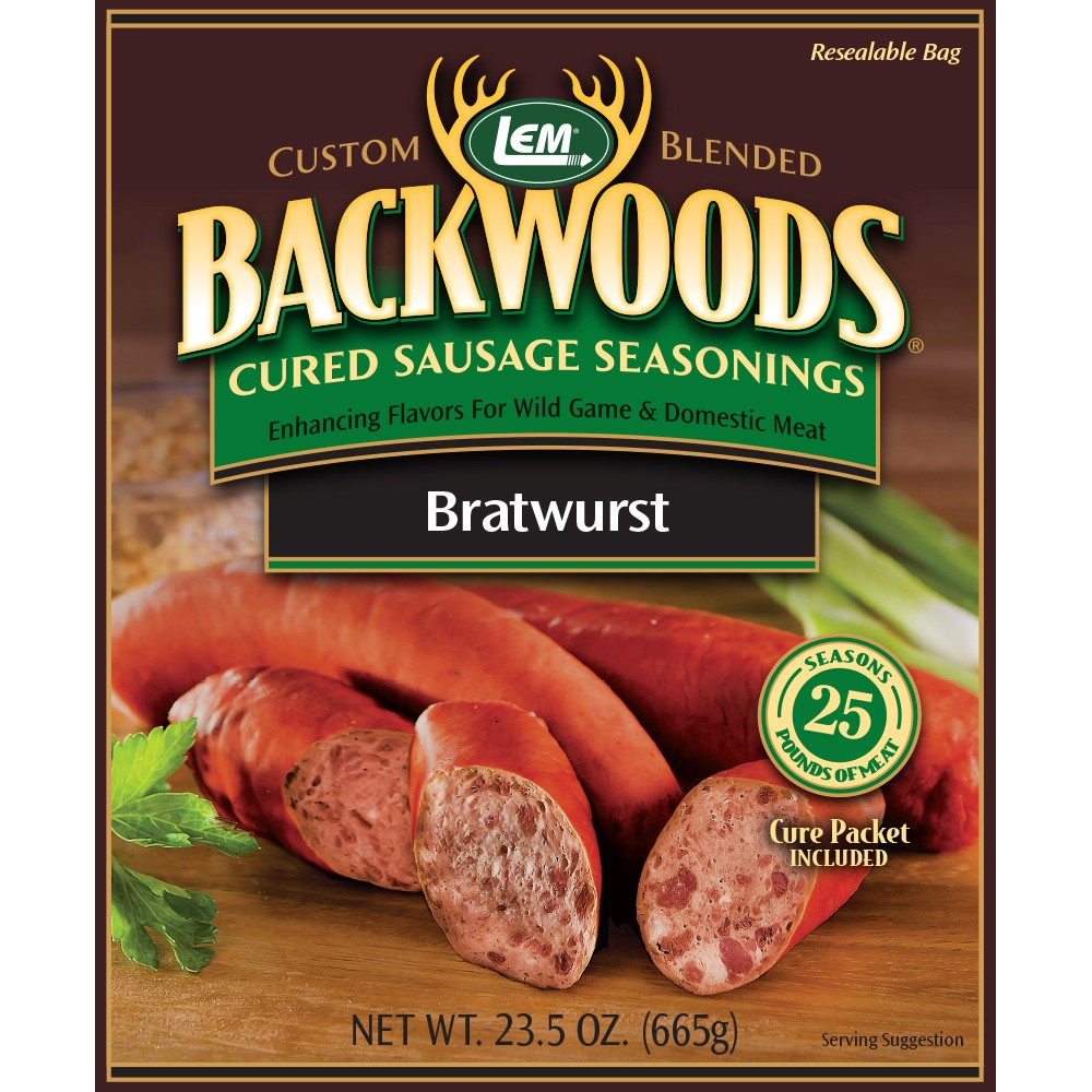 Backwoods Bratwurst Cured Sausage Seasoning - Makes 25 lbs.