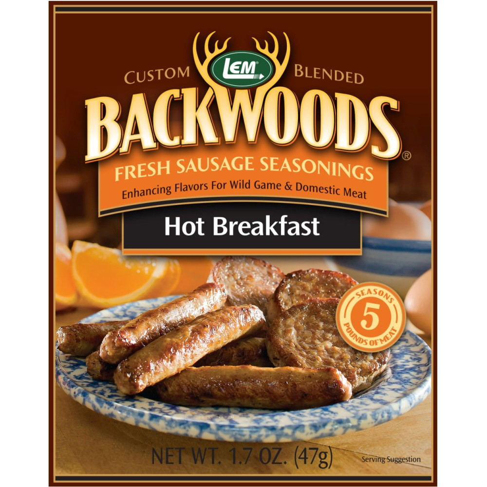 Backwoods Hot Breakfast Fresh Sausage Seasoning - Backwoods Hot Breakfast Seasoning Makes 25 lbs.