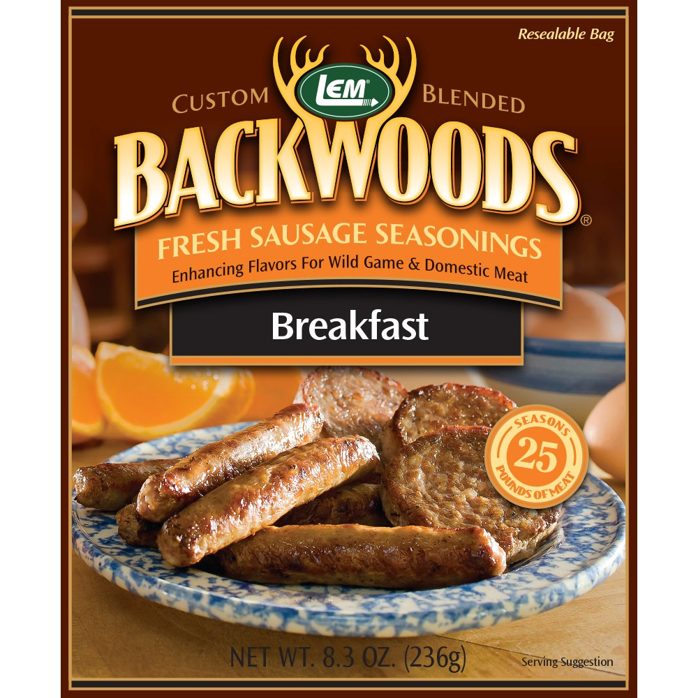 Backwoods Breakfast Fresh Sausage Seasoning - Makes 25 lbs.