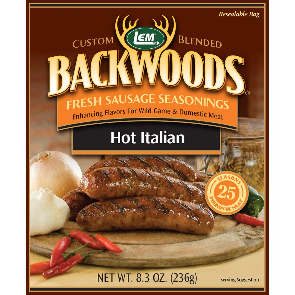 Backwoods Hot Italian Fresh Sausage Seasoning - Makes 25 lbs.