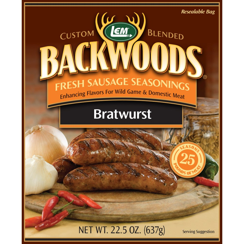 Backwoods Bratwurst Fresh Sausage Seasoning - Makes 25 lbs.