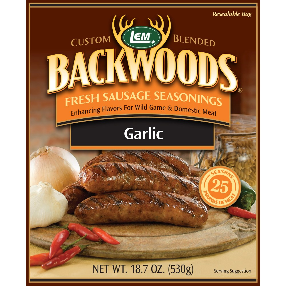Backwoods Garlic Fresh Sausage Seasoning - Makes 25 lbs.