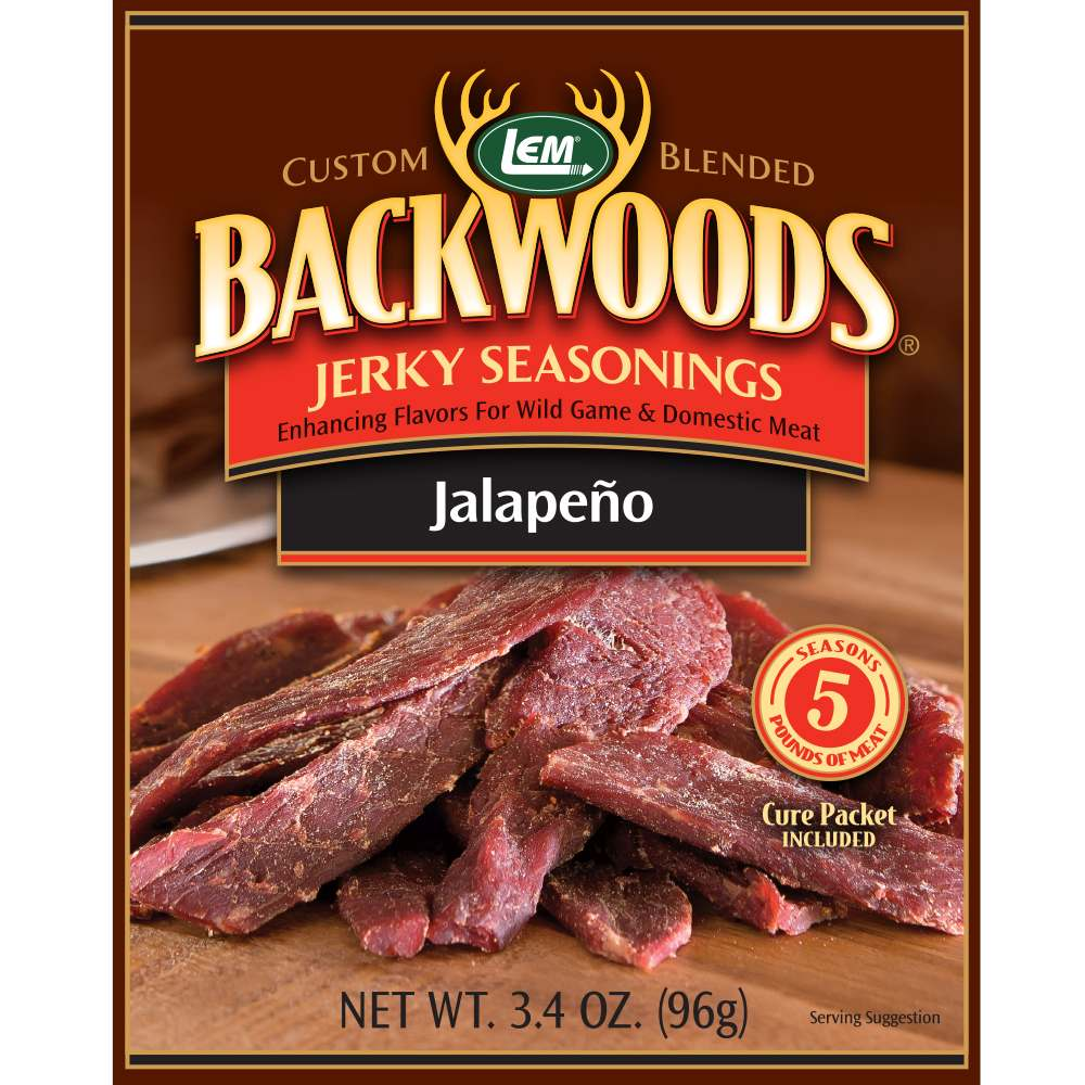 Backwoods Jalapeno Jerky Seasoning - Backwoods Jalapeno Makes 5 lbs.