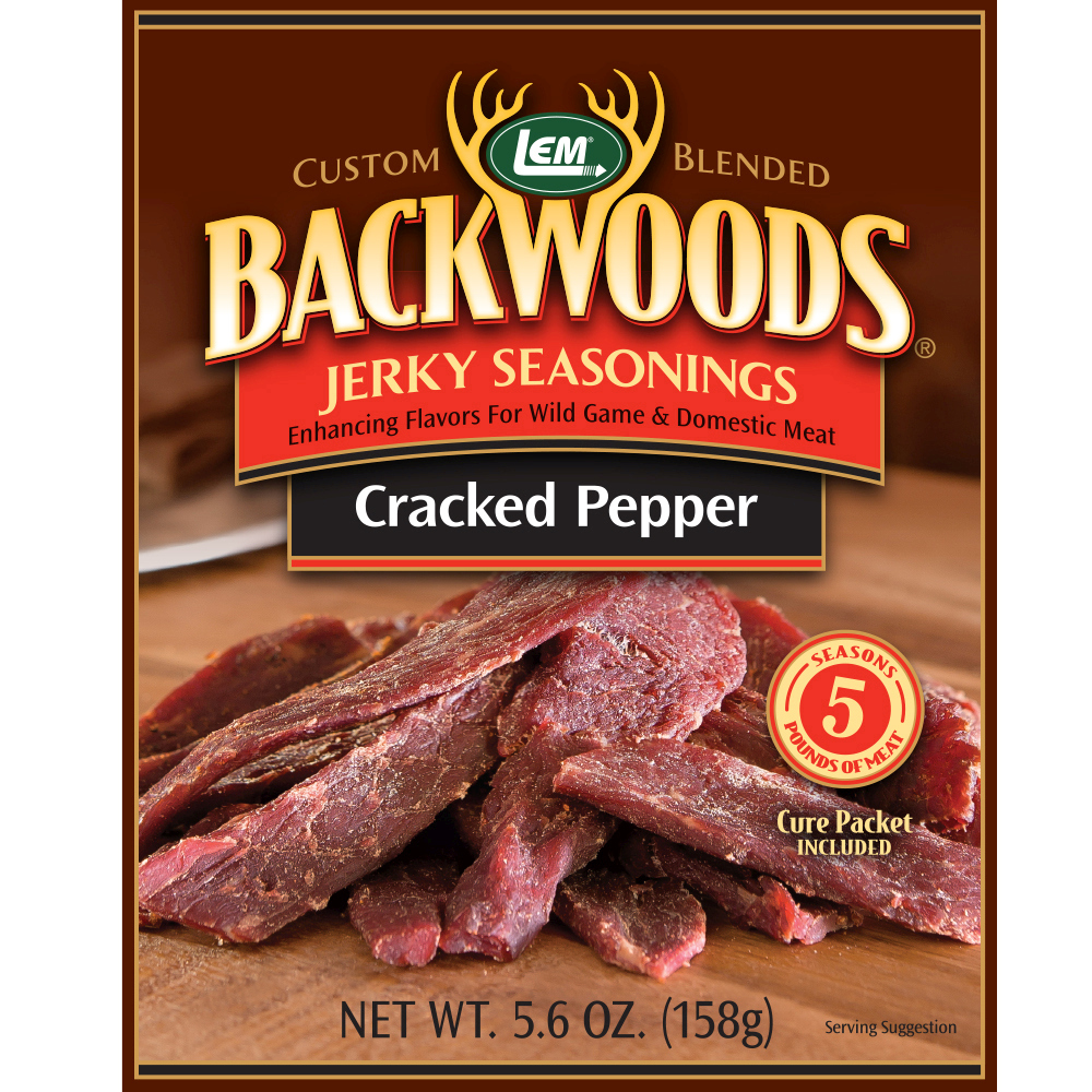Backwoods Cracked Pepper Jerky Seasoning - Backwoods Cracked Pepper Makes 5 lbs.