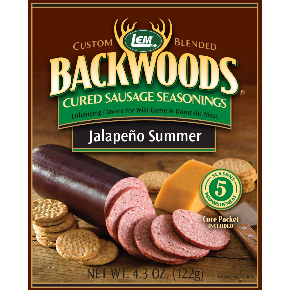 Backwoods Jalapeno Summer Cured Sausage Seasoning - Backwoods Jalapeno Summer Sausage Seasoning Bucket Makes 100 lbs. - BEST VALUE!