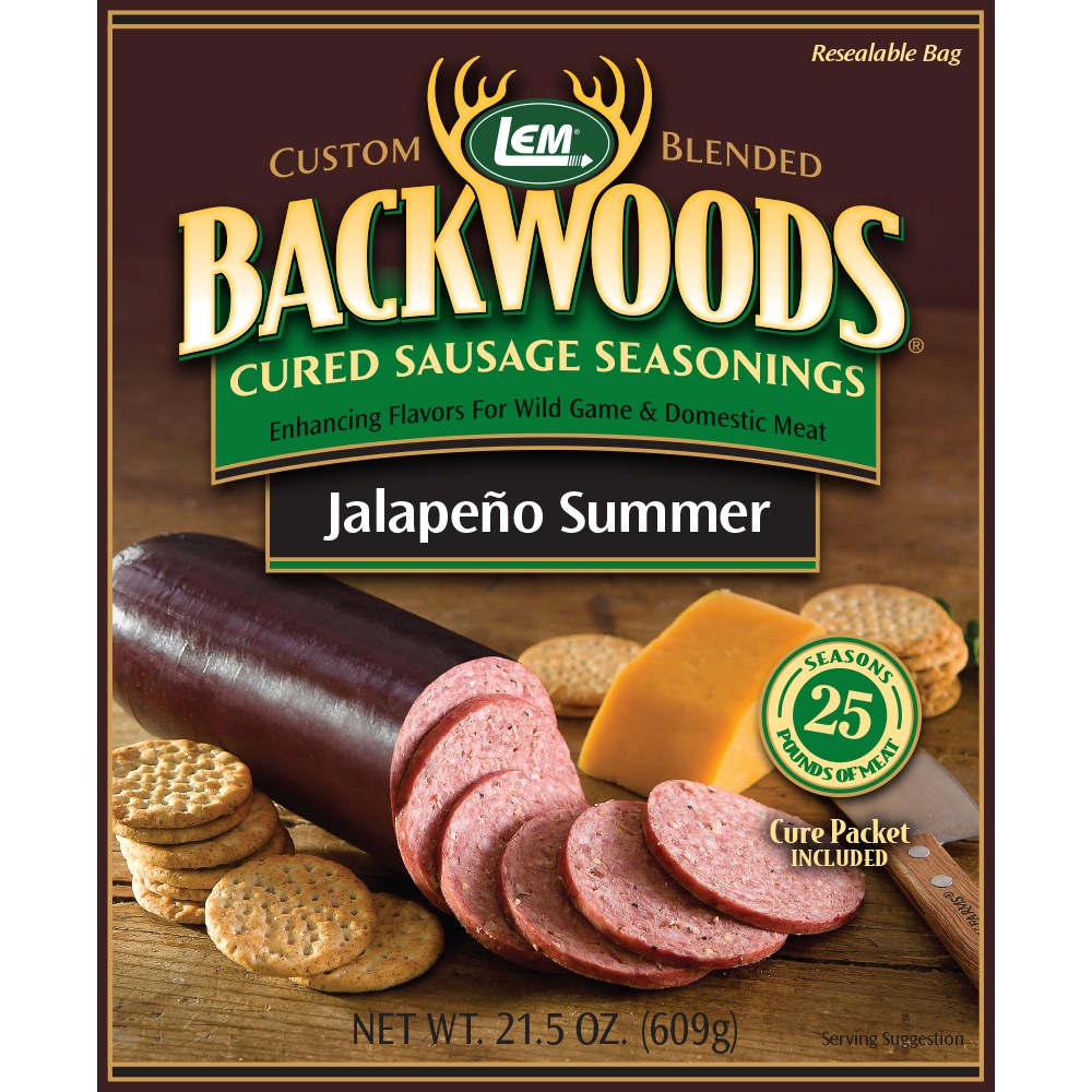 Backwoods Jalapeno Summer Cured Sausage Seasoning - Makes 25 lbs.