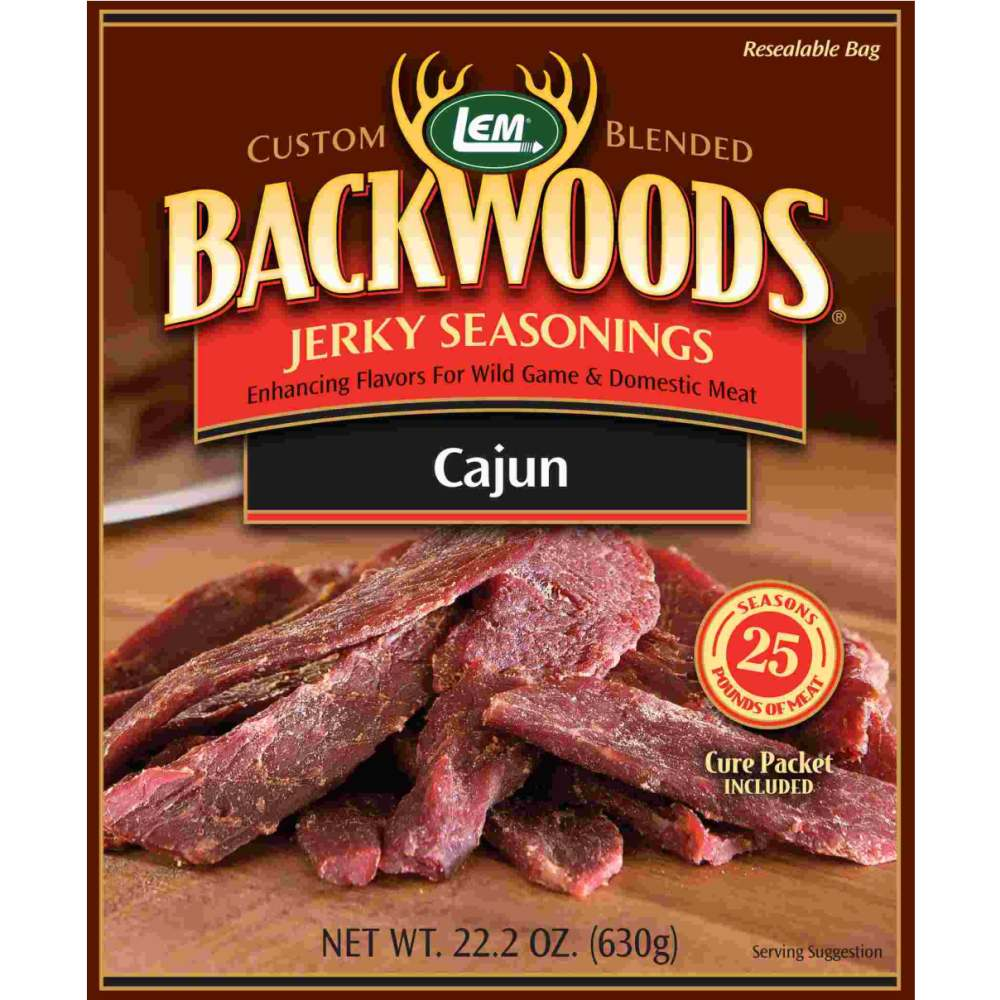 Backwoods Cajun Jerky Seasoning - Backwoods Cajun Makes 25 lbs.