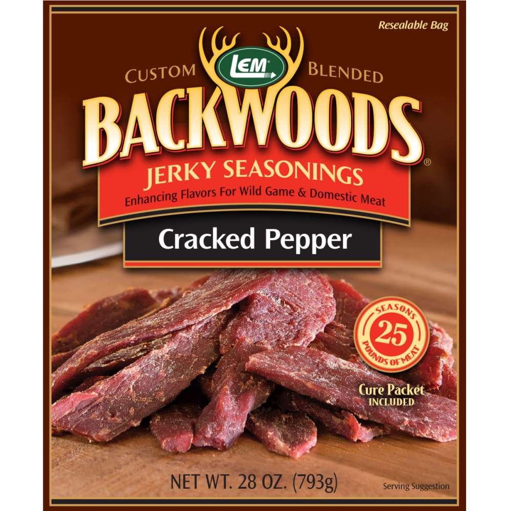 Backwoods Cracked Pepper Jerky Seasoning - Makes 25 lbs.