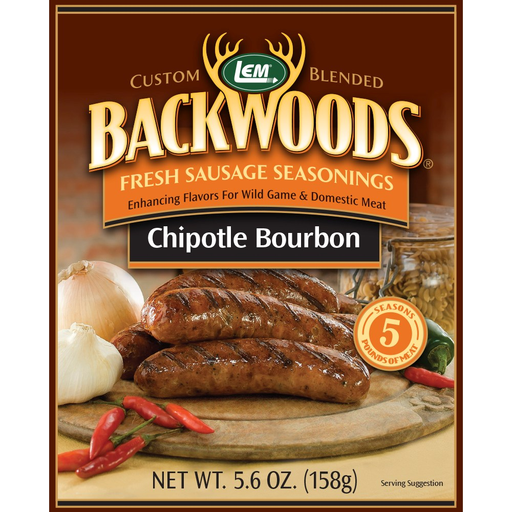 Backwoods Chipotle Bourbon Fresh Sausage Seasoning - Backwoods Chipotle Bourbon - Makes 5 lbs.