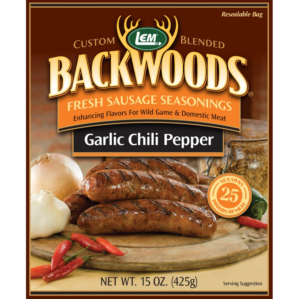 Backwoods Garlic Chili Pepper Fresh Sausage Seasoning