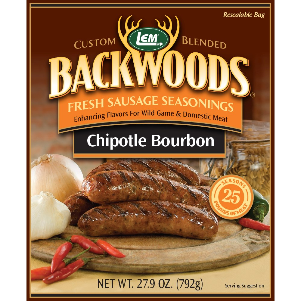 Backwoods Chipotle Bourbon Fresh Sausage Seasoning - Makes 25lbs
