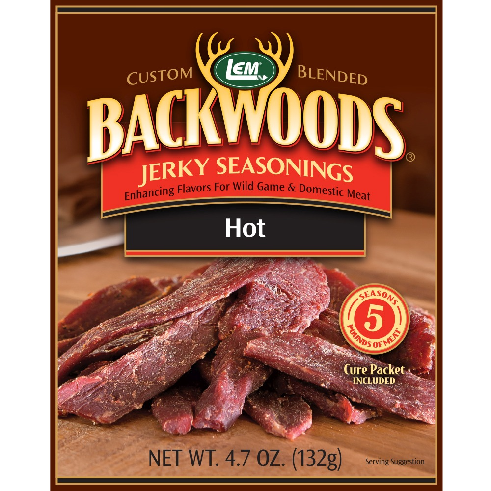 Backwoods Hot Jerky Seasoning - Backwoods Hot Makes 25 lbs.