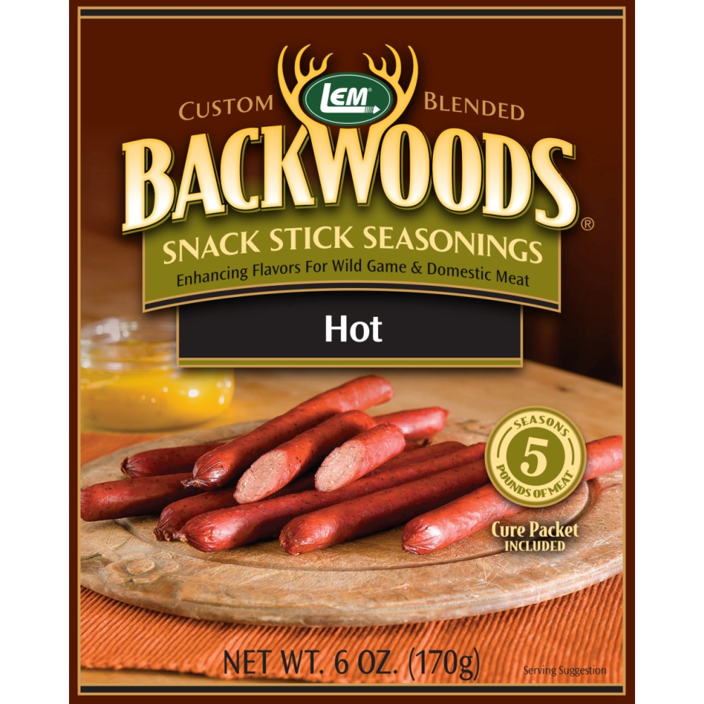 Backwoods Hot Snack Stick Seasoning - Backwoods Hot Stick Seasoning Makes 5 lbs.
