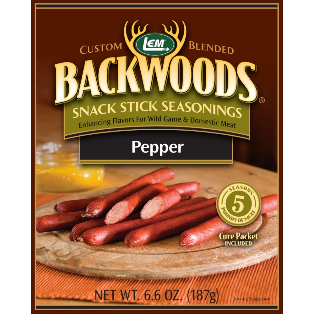 Backwoods Pepper Snack Stick Seasoning - Backwoods Pepper Stick Seasoning Makes 20 lbs.
