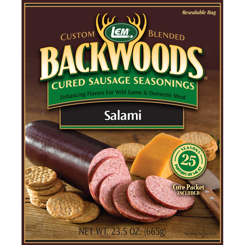 Backwoods Salami Cured Sausage Seasoning - Makes 25 lbs.