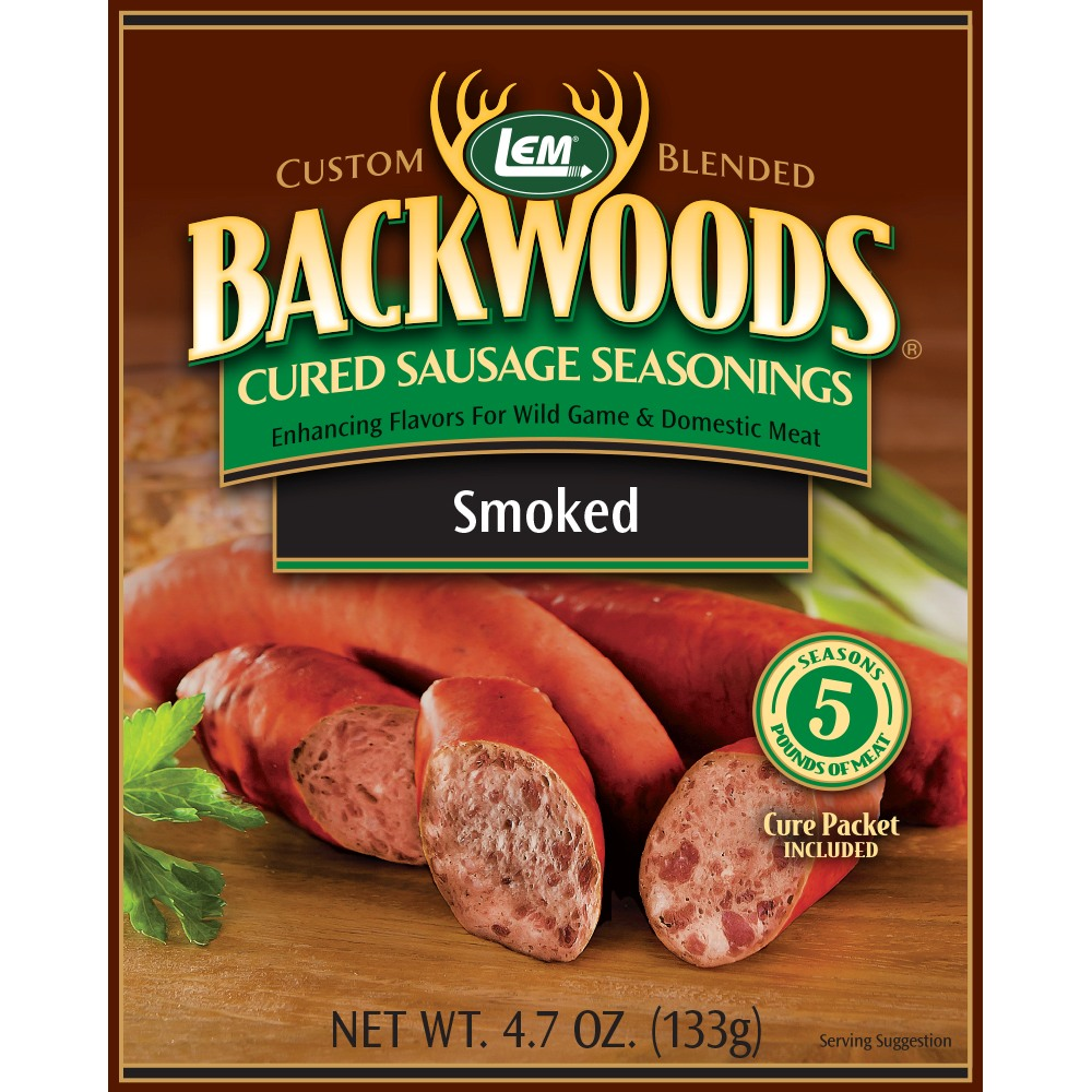 Backwoods Smoked Sausage Cured Sausage Seasoning - Backwoods Smoked Sausage Seasoning Makes 25 lbs.