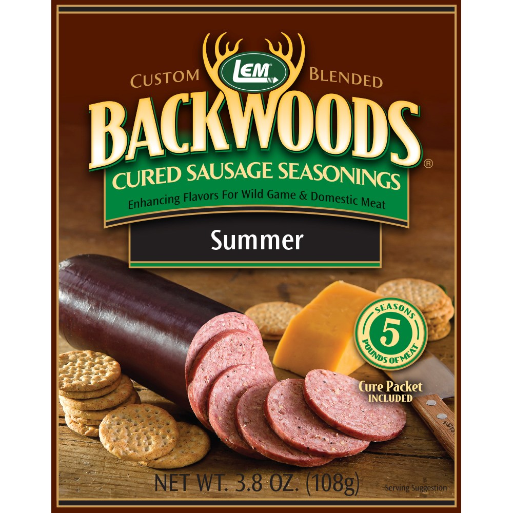 Backwoods Summer Sausage Cured Sausage Seasoning - Backwoods Summer Sausage Seasoning Makes 25 lbs.