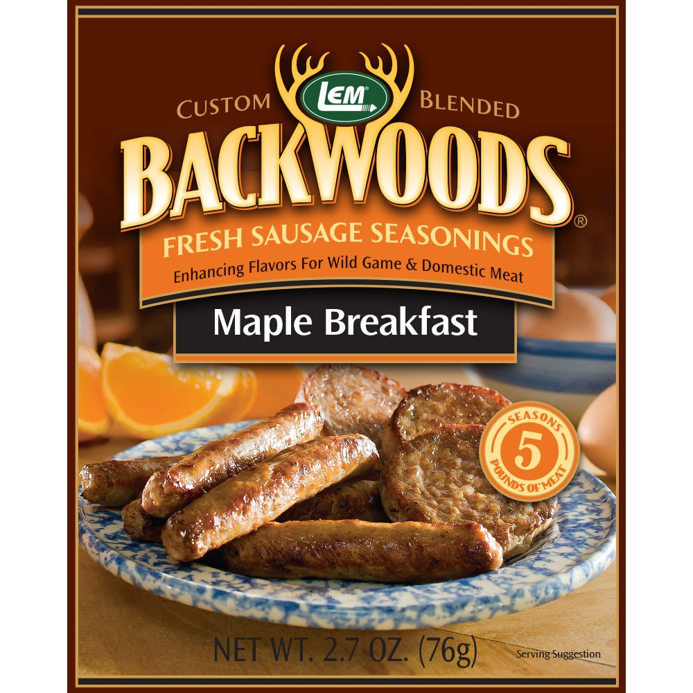 Backwoods Maple Breakfast Fresh Sausage Seasoning - Backwoods Maple Breakfast Seasoning Makes 5 lbs.