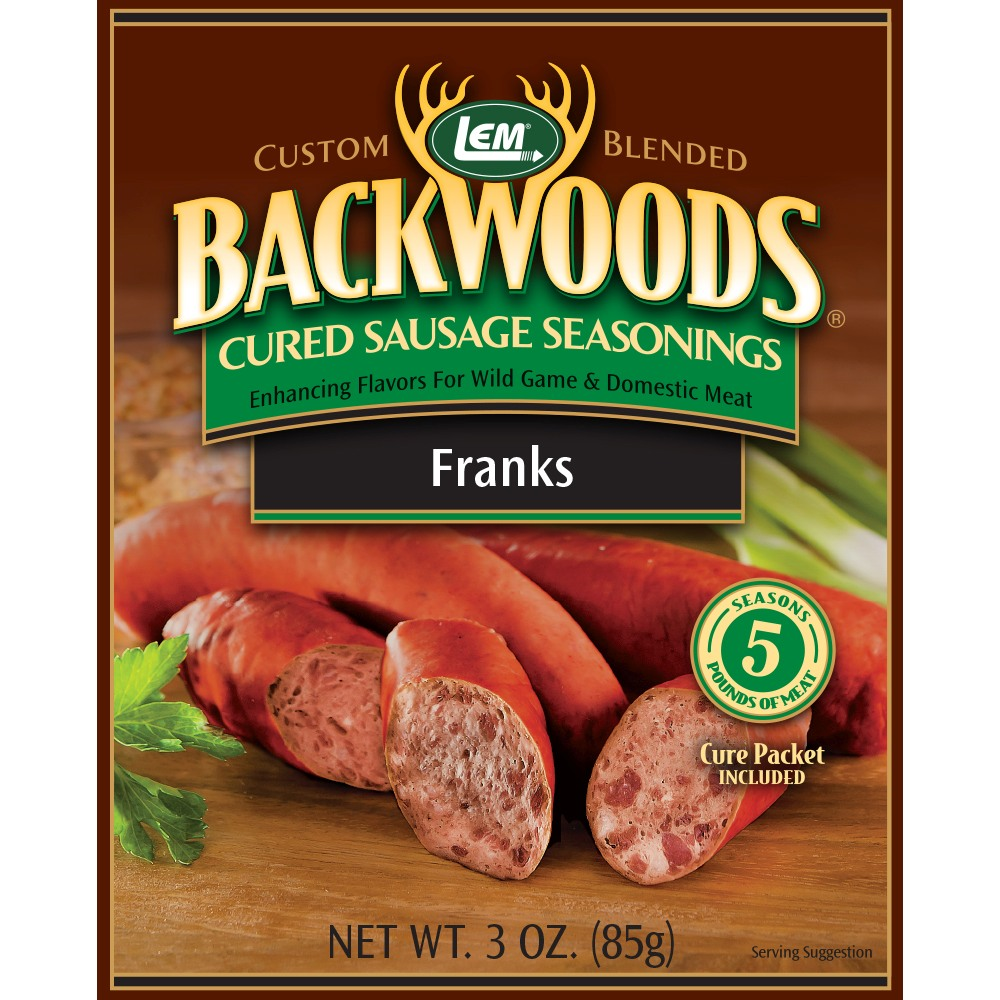 Backwoods Franks Cured Sausage Seasoning - Backwoods Franks Seasoning Makes 5 lbs.