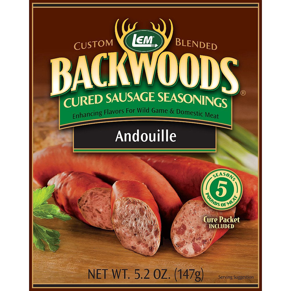 Backwoods Andouille Cured Sausage Seasoning - Backwoods Andouille Seasoning Makes 25lbs.