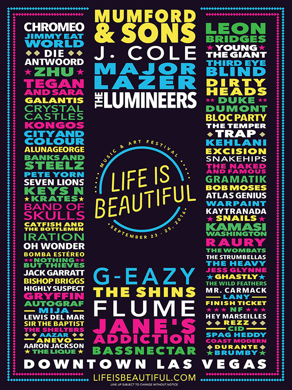About - LIFE IS BEAUTIFUL Music & Art Festival