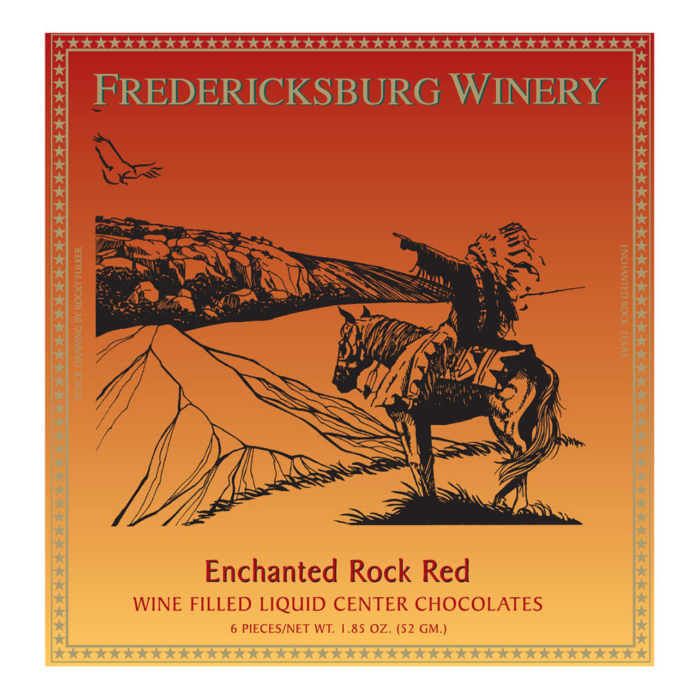 Fredericksburg Enchanted Rock Red Wine Filled Chocolates