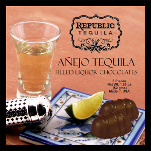 Republic Anejo Tequila Filled Chocolates - PREMIUM