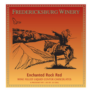 Fredericksburg Enchanted Rock Red Wine Filled Chocolates