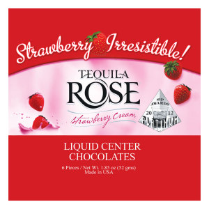 Tequila Rose Strawberry Cream Liqueur Filled Chocolates - CLASSIC