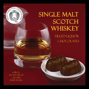 Single Malt Scotch Whisky Filled Chocolates - PREMIUM