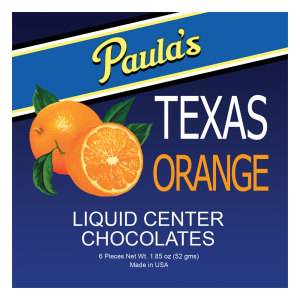Paula's Texas Orange Premium Liquor Filled Chocolates - CLASSIC
