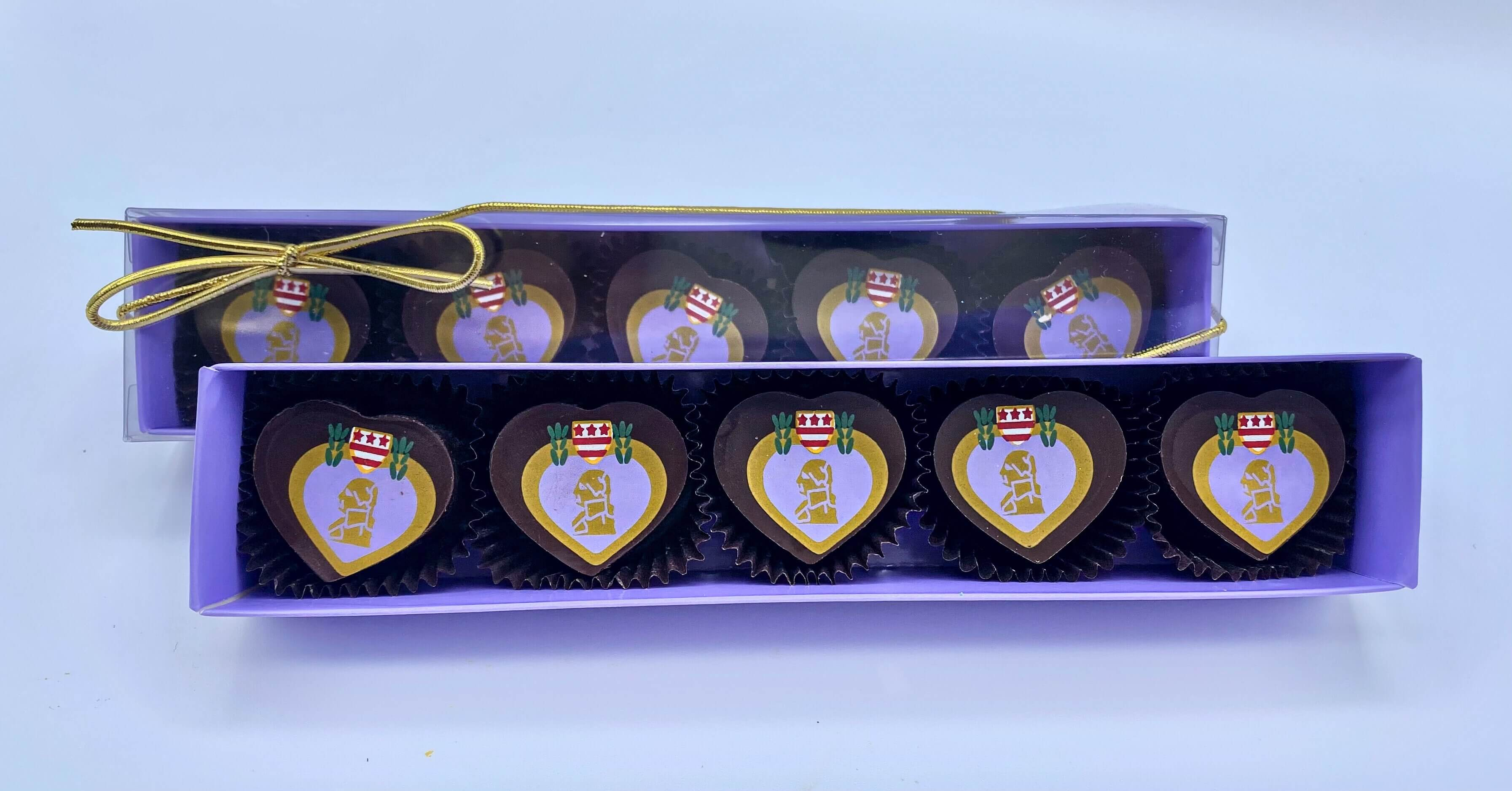 Purple Heart 5 Piece Chocolate Box