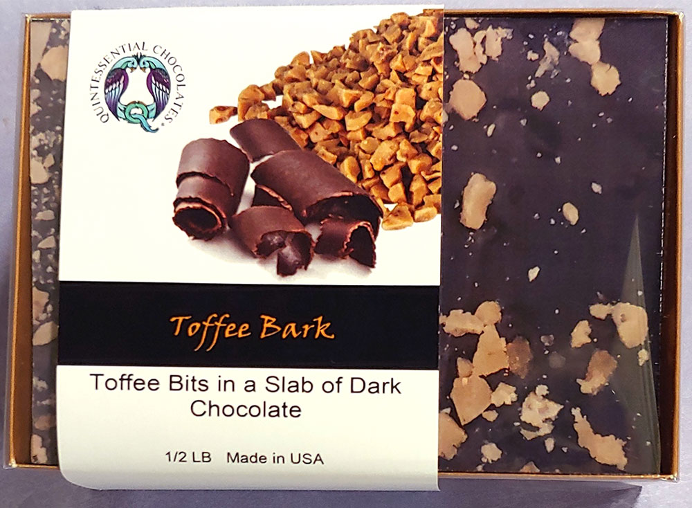 Toffee Dark Chocolate Bark