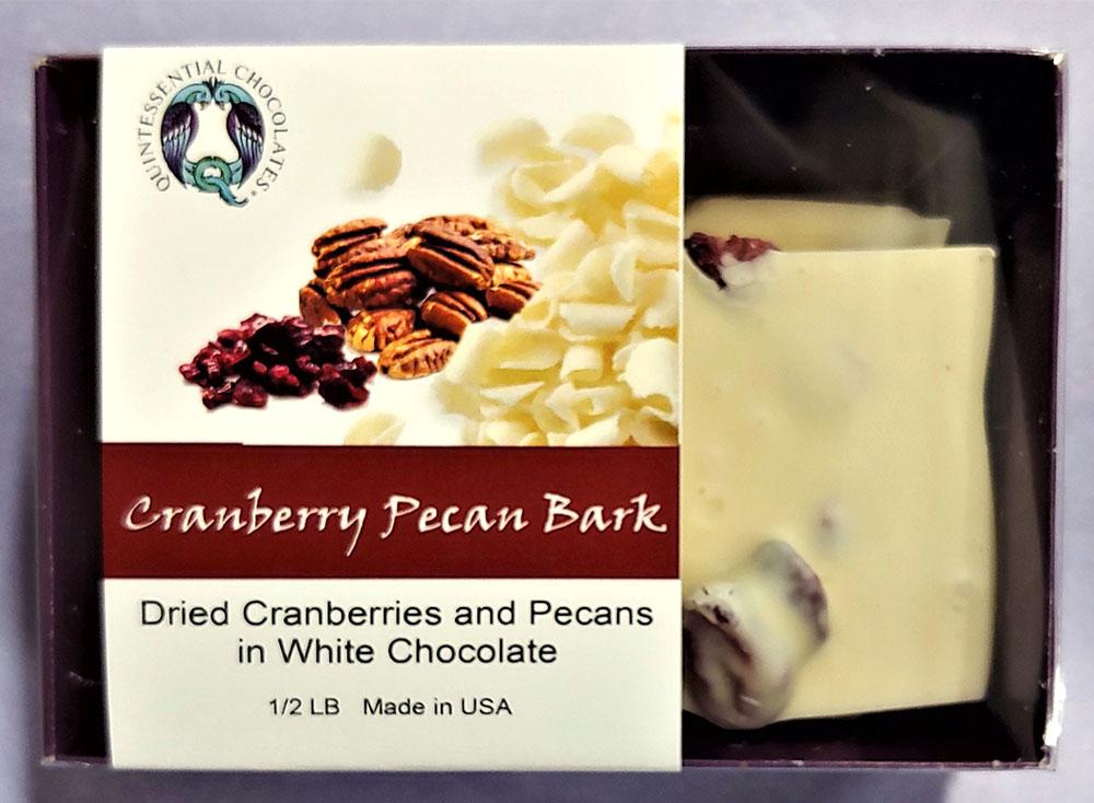 Cranberry Pecan White Chocolate Bark