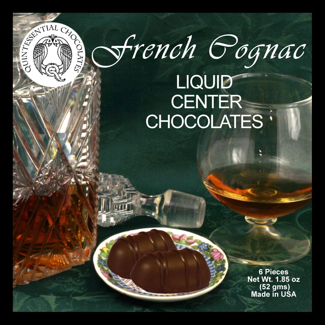 French Champagne Cognac Filled Chocolates - PREMIUM