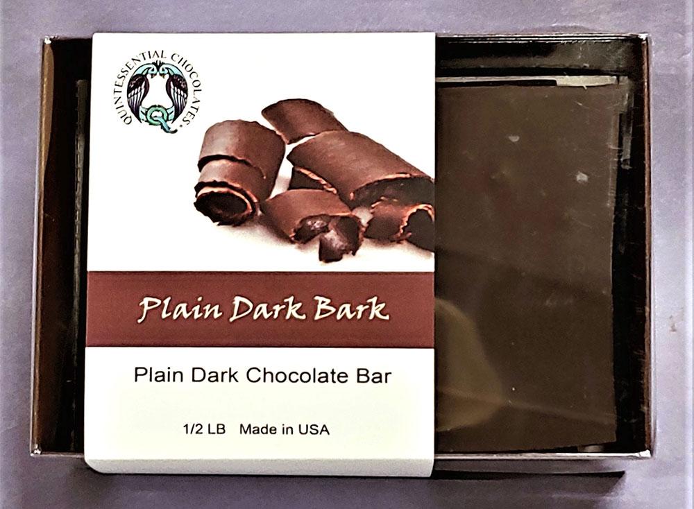 Plain Dark Chocolate Bark