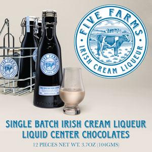 Five Farms Irish Cream Liqueur, 12 Piece