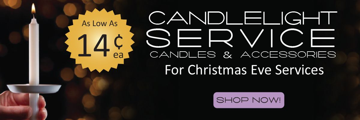 Candlelight Service Candles and Accessories as low as 14¢ each