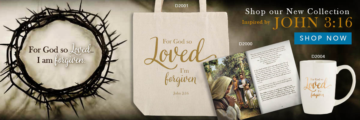 Shop our New Collection Inspired by John 3:16