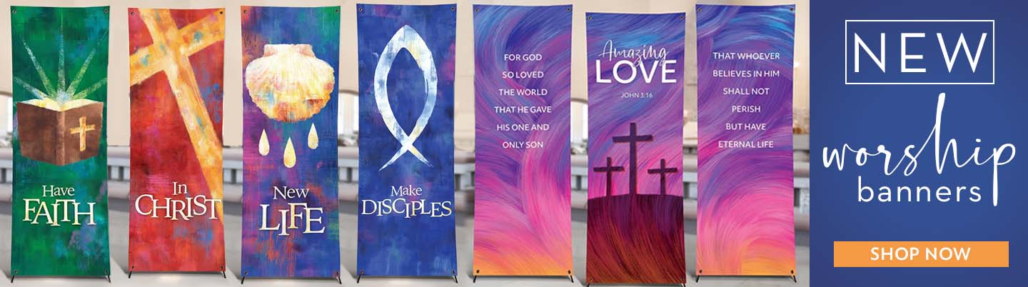 Shop new worship banners!