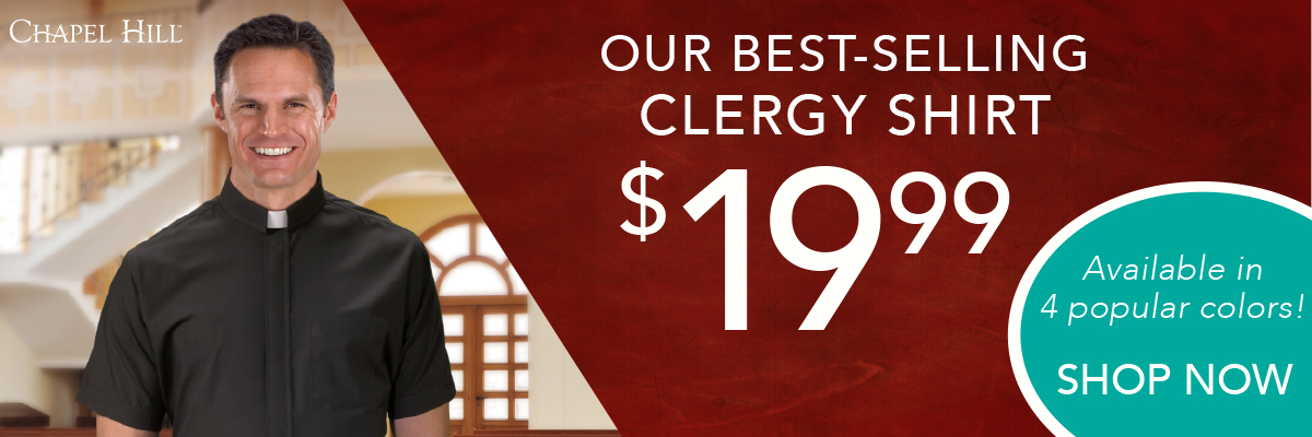 Our Best-Selling Clergy Shirt only $19.99! Shop Now!