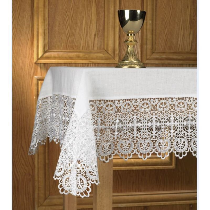 Budded Cross Lace Altar Cloth