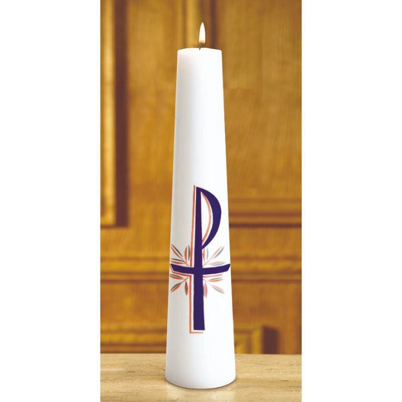 Christ Candle--Chi Rho 1 Pc