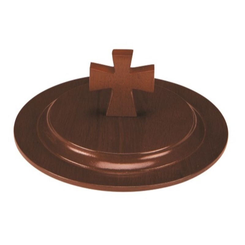 Walnut Stain Wood  Stacking Bread Plate Lid