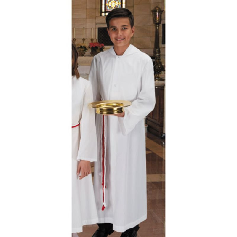 Monastic Alb with Hood - New Englander Style